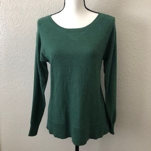 AE Lightweight Knit Pullover Green Sweater Size SM